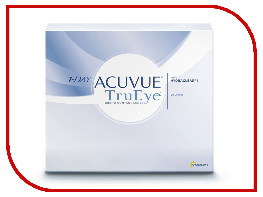 Контактные линзы Johnson & Johnson 1-Day Acuvue TruEye (90 линз / 8.5 / -2) контактные линзы johnson & johnson 1 day acuvue moist 90 линз 8 5 4 25