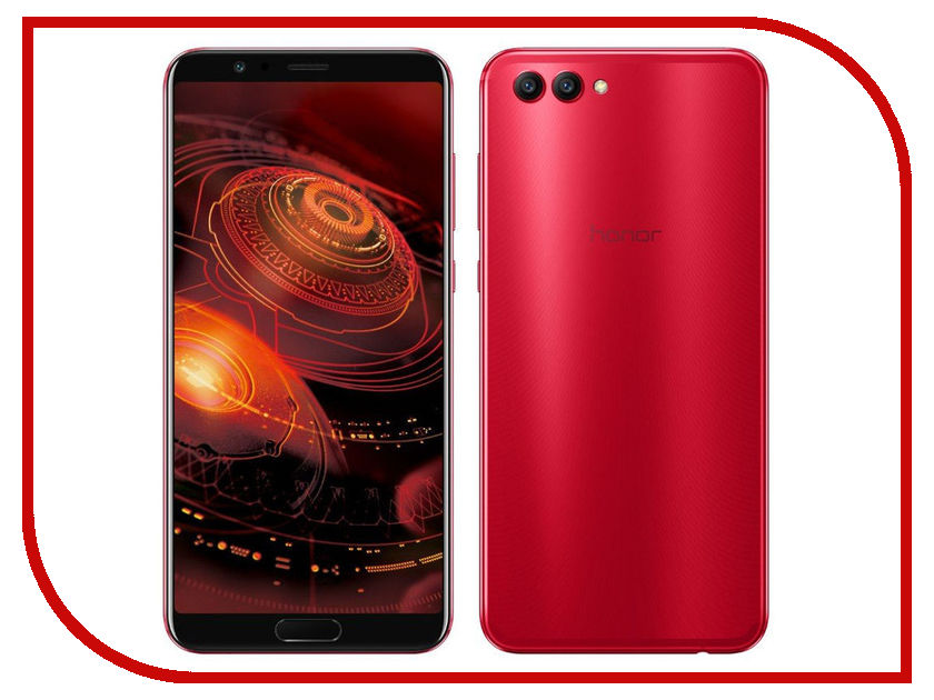 Сотовый телефон Huawei Honor View 10 128Gb Red original view window flip pu leather case cover for uhappy up920