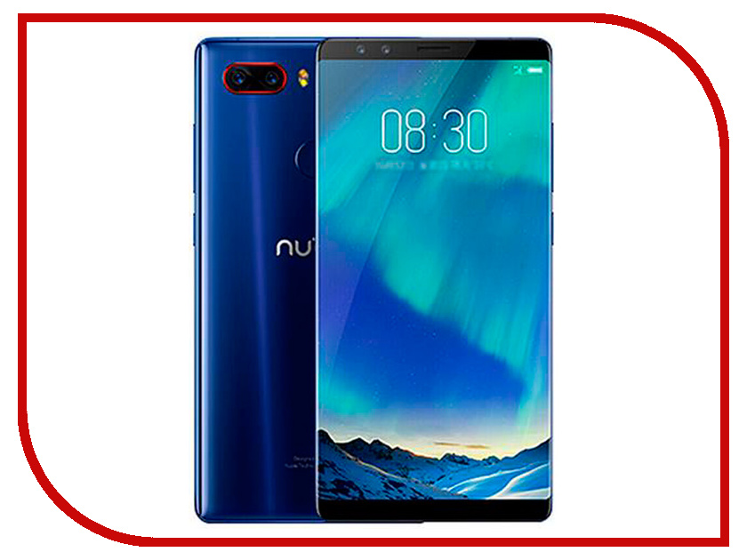 Сотовый телефон ZTE Nubia Z17S 8/128GB Blue moskii brand ultra thin protective pc backcase cover for zte nubia x6