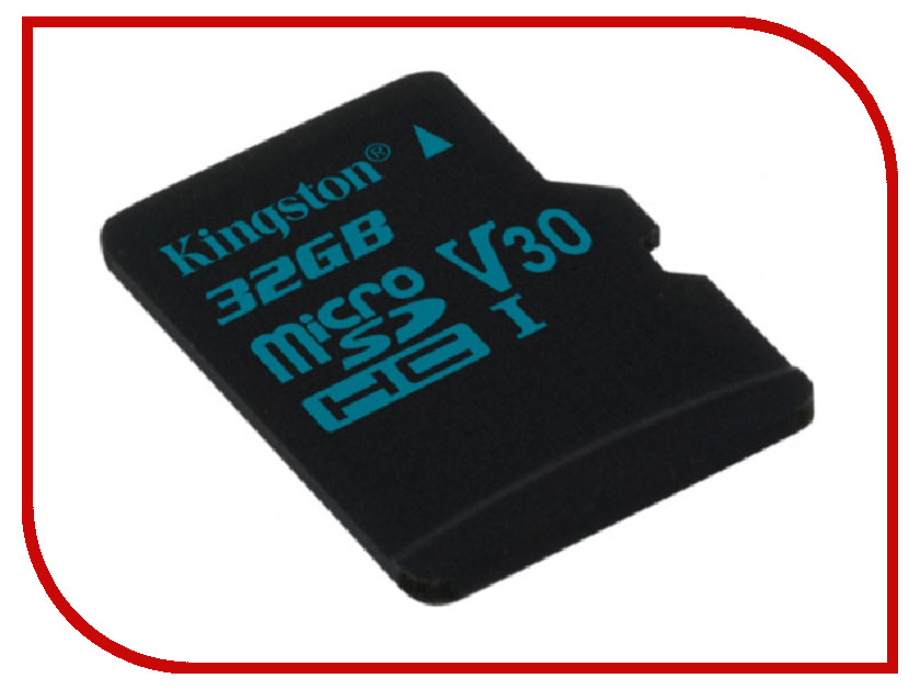 Карта памяти 32GB - Kingston microSDHC Canvas Go 90/45 U3 UHS-I V30 Single Pack W/O Adptr SDCG2/32GBSP карта памяти transflash 32гб microsdhc class 10 uhs i u3 90r 45w kingston canvas go