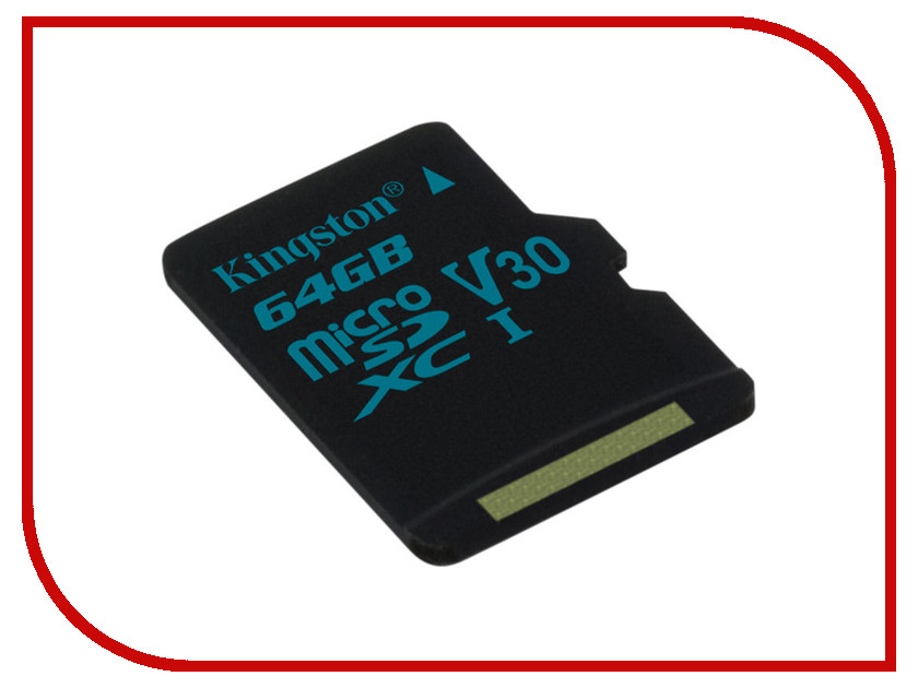Карта памяти 64GB - Kingston microSDXC Canvas Go 90/45 U3 UHS-I V30 Single Pack W/O Adptr SDCG2/64GBSP карта памяти transflash 32гб microsdhc class 10 uhs i u3 90r 45w kingston canvas go