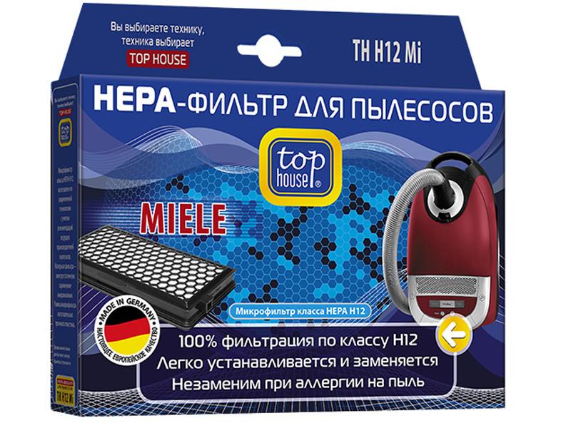 Фильтр Top House TH H12Mi для пылесосов Miele S 4210 – 4812 / 5210 5981 6210 6780 8310 8990 Compact C1-C2 Complete C2-C3 4004060012870