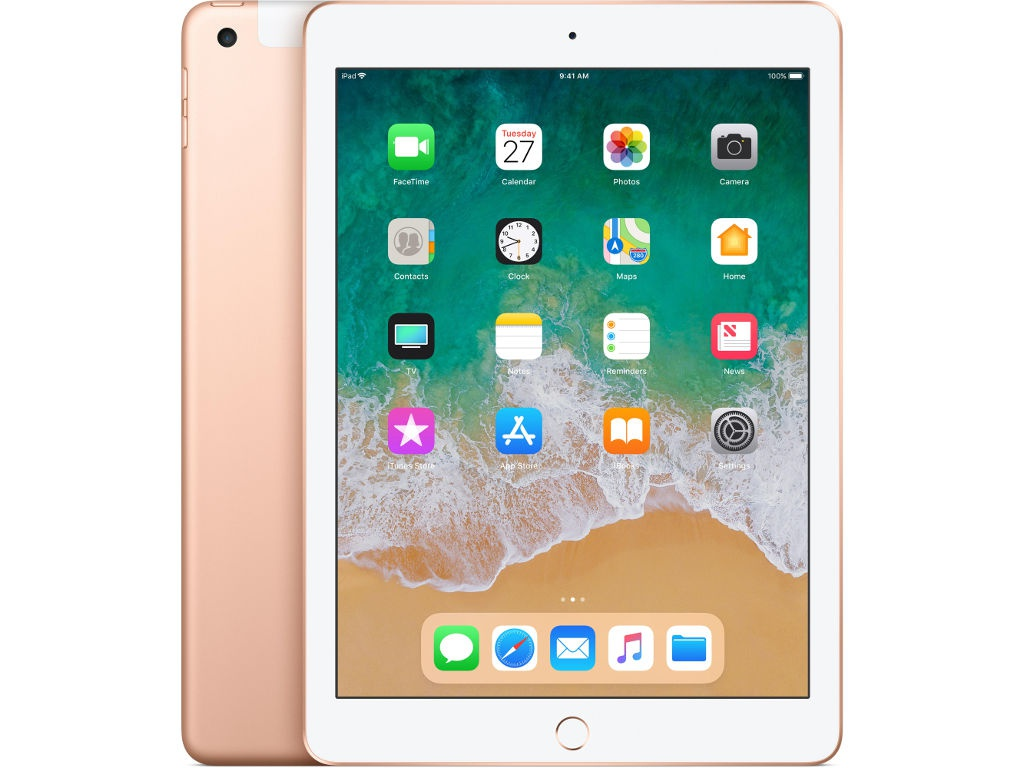 Планшет APPLE iPad 2018 Wi-Fi + Cellular 128Gb Gold MRM22RU/A