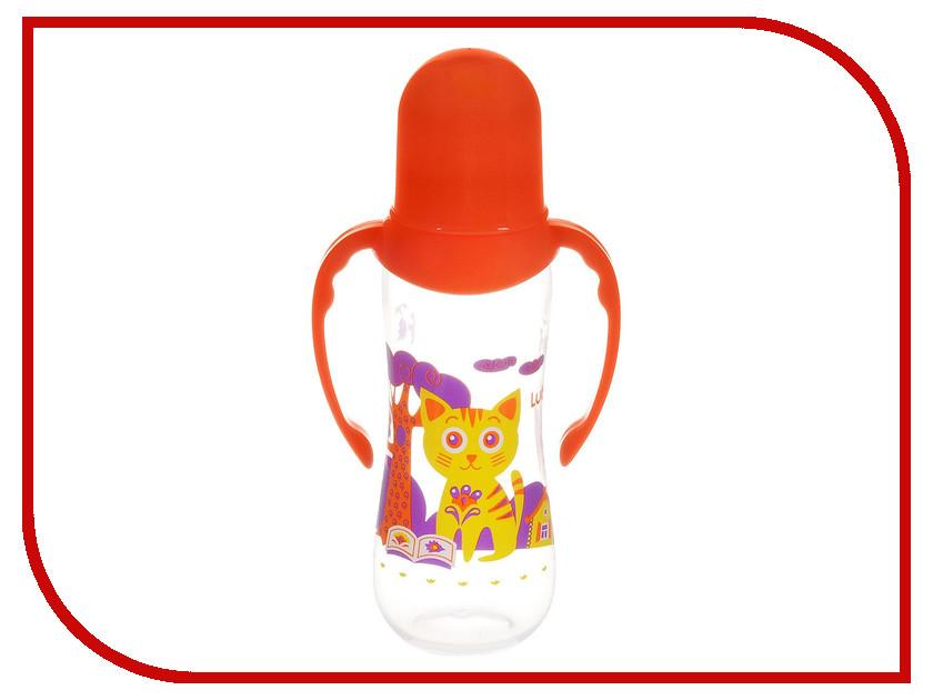 Бутылочка с соской Lubby Orange 12018