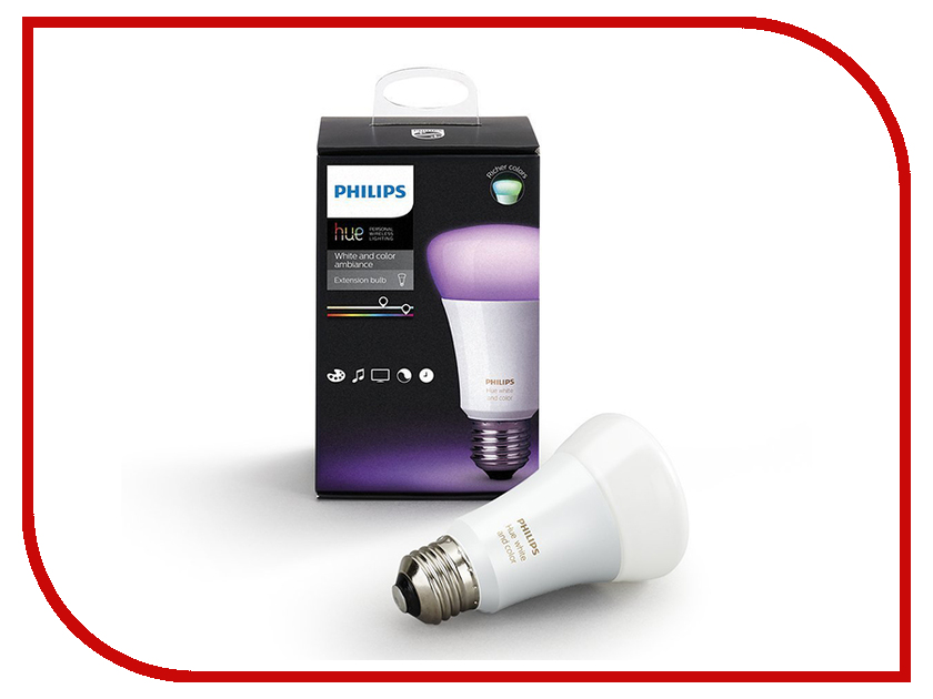 Лампочка Philips Hue White And Color Ambiance E27 (1шт) гарнитура philips she1455 white