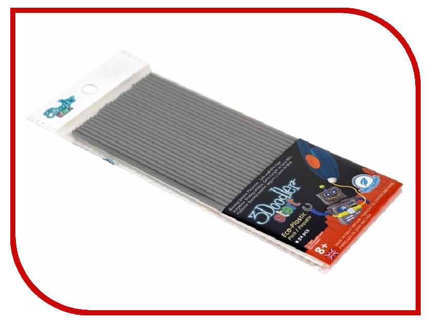 Аксессуар 3Doodler Wobble Works for Start Grey 24шт 3DS-ECO08-GREY-24