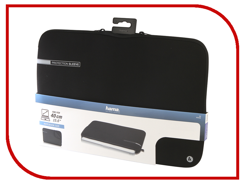 Аксессуар Чехол 15.6-inch Hama Neoprene Notebook Sleeve аксессуар чехол hama h 95507 neoprene red hdd 2 5