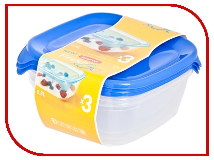 Набор контейнеров Curver Fresh & Go 800ml Blue 08559-139 go meetting 100