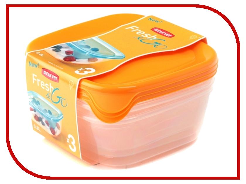 Набор контейнеров Curver Fresh & Go 800ml Yellow 08559-007 go meetting 100