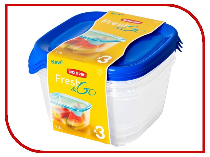 Набор контейнеров Curver Fresh & Go 1.2L Blue 08560-139 ginzzu gt 8005