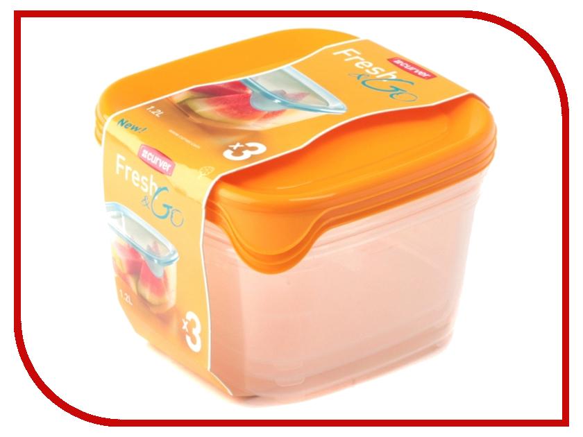 Набор контейнеров Curver Fresh & Go 1.2L Yellow 08560-007 go meetting 100