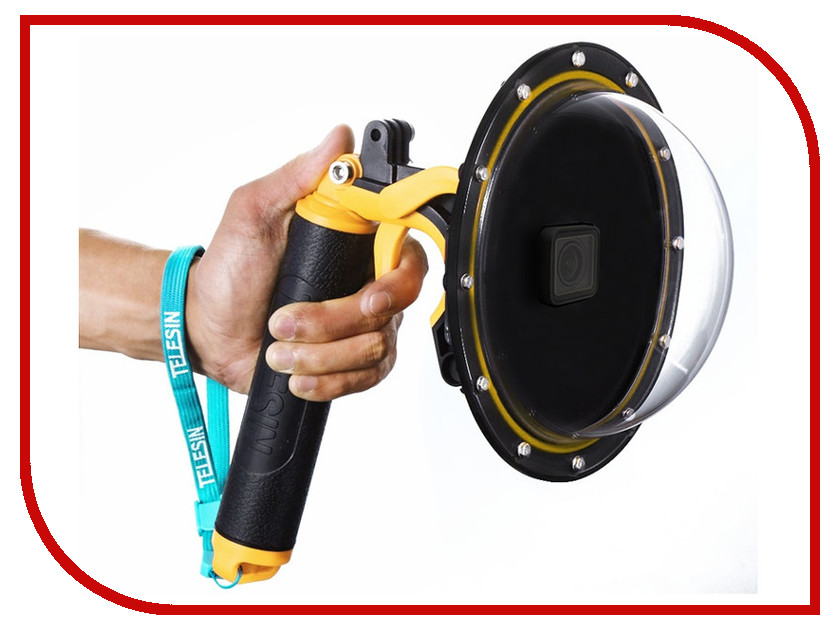 Аксессуар Telesin Подводный бокс Dome Port для GoPro Hero 5/6 Black GP-DMP-T05 puluz pu186 aluminum alloy housing shell case protective cage for gopro hero 5 6