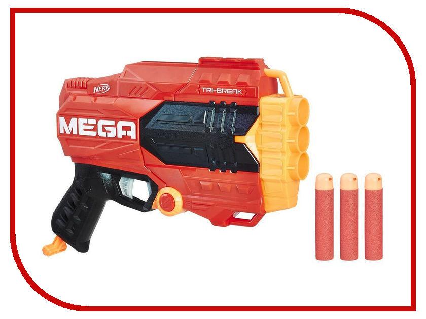 Игрушка Nerf Мега Три-брейк (E0103) nerf игрушка бластер три брейк