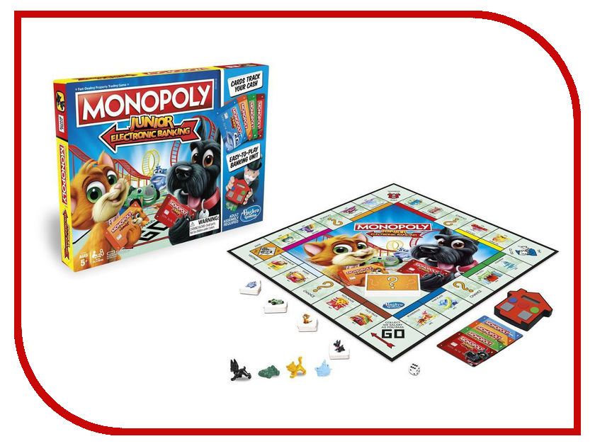 Игрушка Hasbro Монополия Джуниор E1842 игрушка hasbro games монополия дорожная b1002