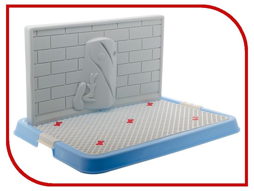 Туалет V.I.Pet для собак 50x38x29cm Blue P130-05
