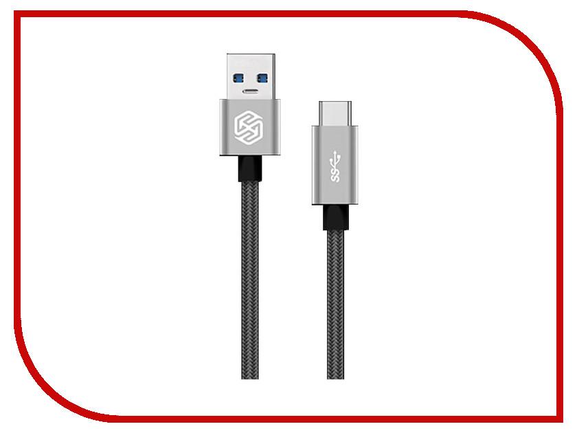 Аксессуар Nillkin Elite cable USB 3.0 - Type C 1m 3A Grey E-DC NK-TYPE C uni t ut256b 200a true rms fork meter ac dc fork type digital clamp type table clip on multimeter ut256b capacitance resistance