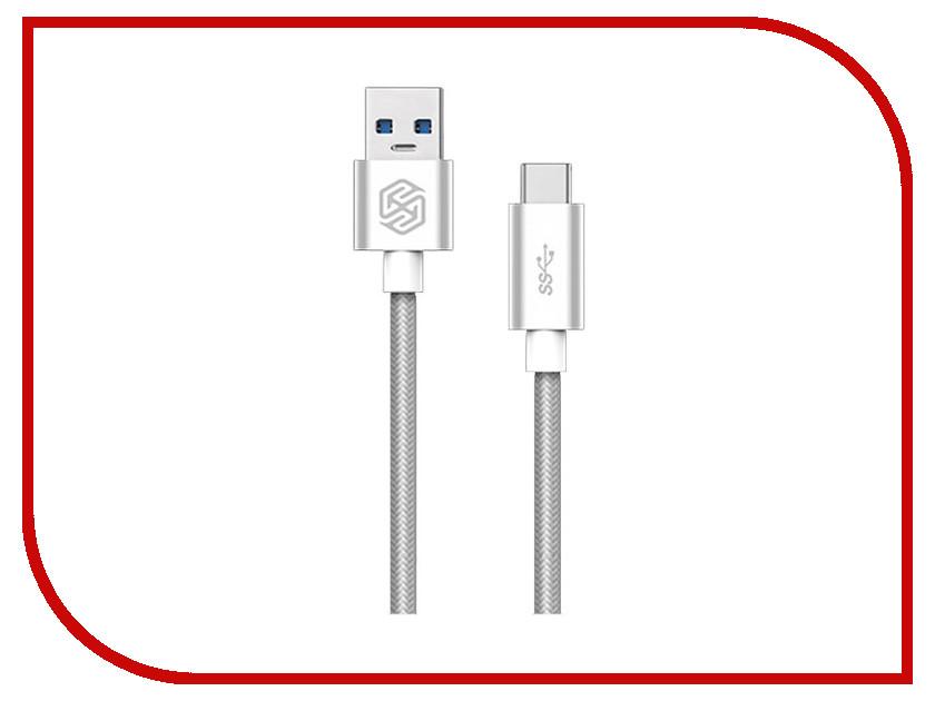 Аксессуар Nillkin Elite cable USB 3.0 - Type C 1m 3A Silver E-DC NK-TYPE C чехол переноска sport elite zs 6525 65x25cm silver