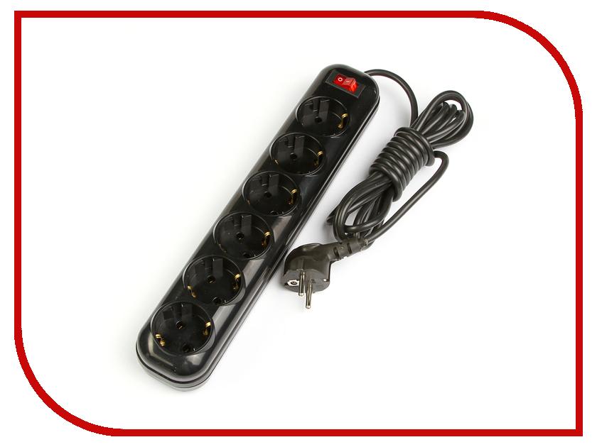Сетевой фильтр Tundra 6 Sockets 3m Black 2972196 уровень tundra premium 881951