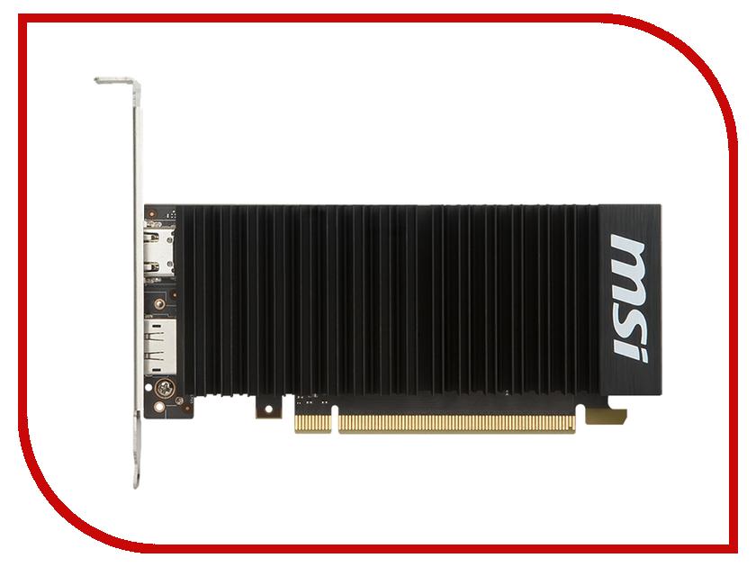 Видеокарта MSI GeForce GT 1030 1265Mhz PCI-E 3.0 2048Mb 6008Mhz 64 bit DVI HDMI HDCP GT 1030 2GH OC видеокарта 6144mb msi geforce gtx 1060 gaming x 6g pci e 192bit gddr5 dvi hdmi dp hdcp retail