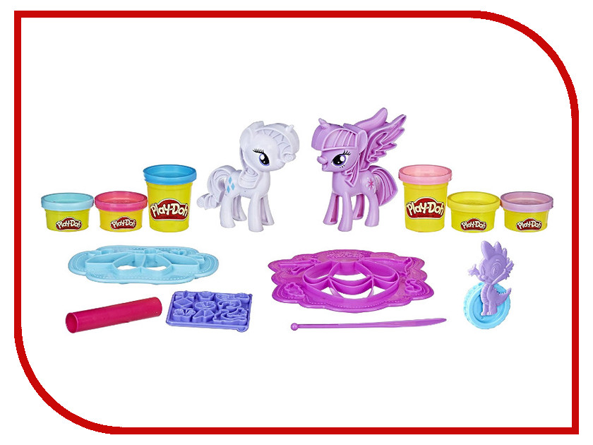 Игрушка Hasbro Play-Doh Твайлайт и Рарити B9717 play doh игровой набор магазинчик домашних питомцев
