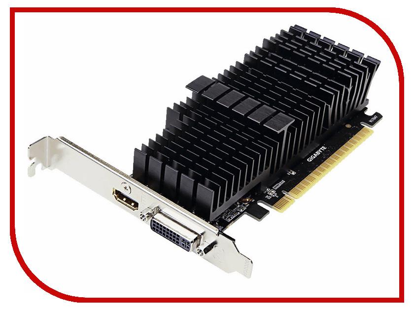 Видеокарта GIGABYTE GeForce GT 710 954Mhz PCI-E 2.0 2048Mb 5010Mhz 64 bit DVI HDMI HDCP Silent видеокарта gigabyte gv n710d5sl 2gl