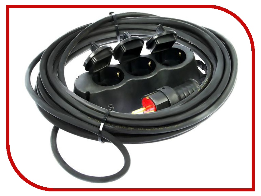 Удлинитель Tundra 3 Sockets 10m 2276573