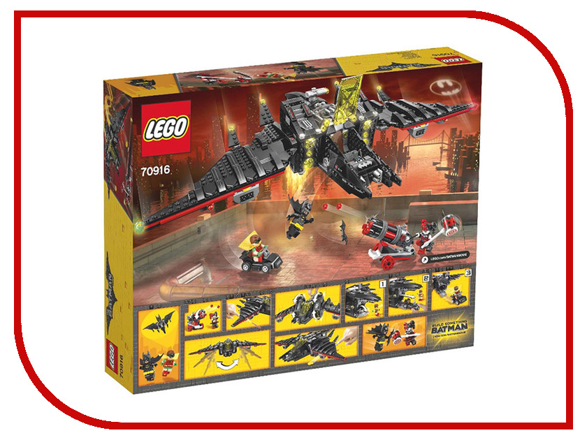 Конструктор Lego Batman Movie Бэтмолёт 70916 lego batman movie ластик 3 шт 51760