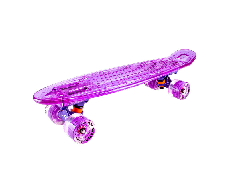 Скейт Tech Team Transparent Light 22 Purple скейт indigo ls p2206 d purple