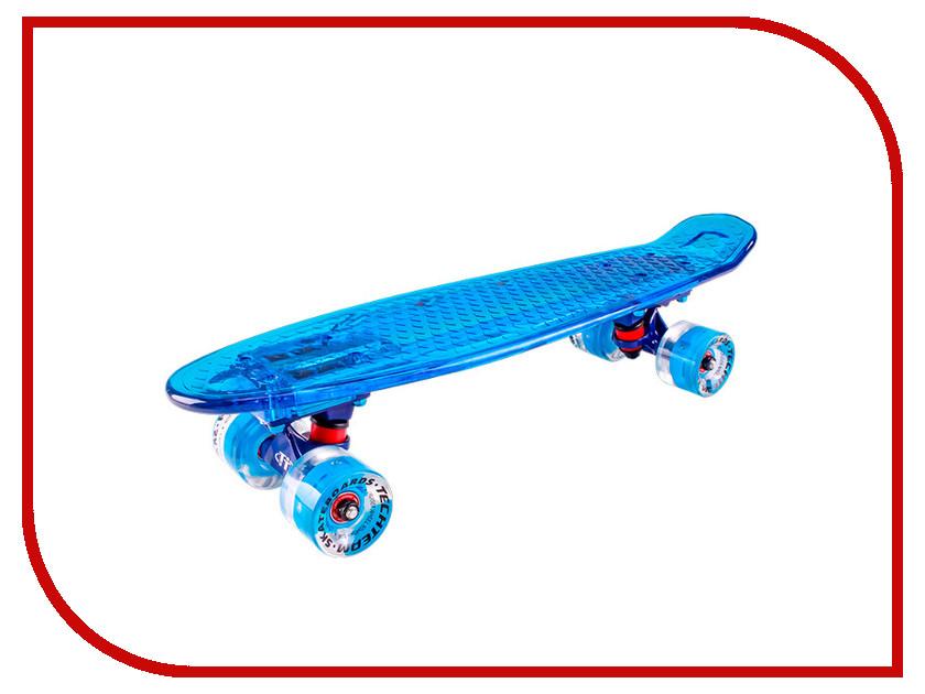 Скейт Tech Team Transparent Light 22 Blue шлем tech team plasma 550 m blue white