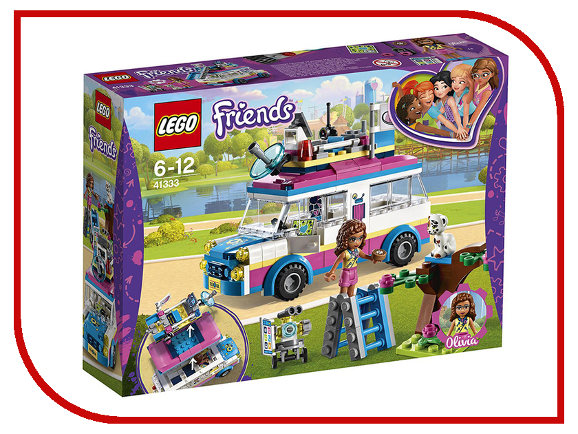 Конструктор Lego Friends Передвижная научная лаборатория Оливии 41333 гуманитарная география научная экспликация
