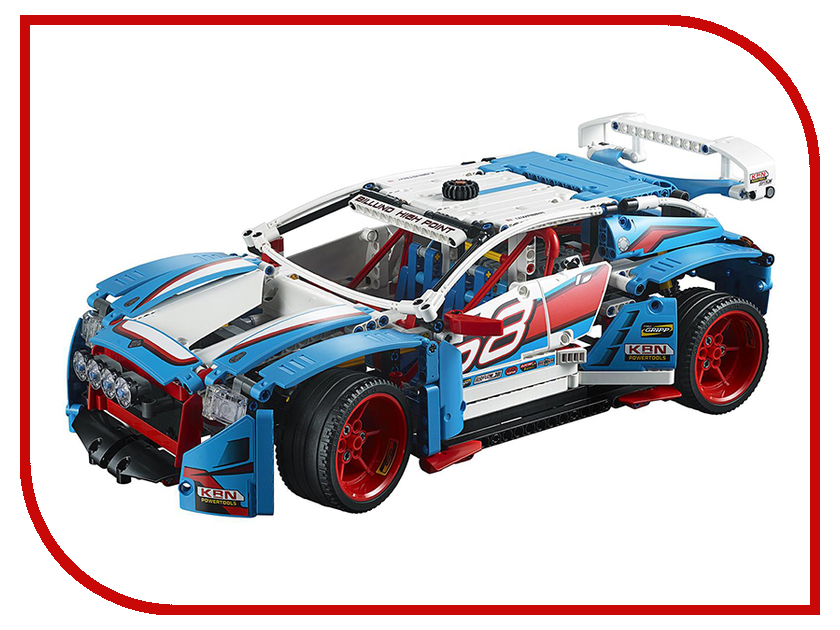 LEGO Technic 42077 Гоночный автомобиль dhl lepin 20077 technic series the rally car model set compatible 42077 building blocks bricks children educational classic toys
