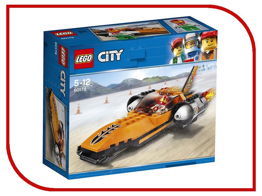 Конструктор Lego City Гоночный автомобиль 60178 полесье гоночный автомобиль торнадо цвет желтый