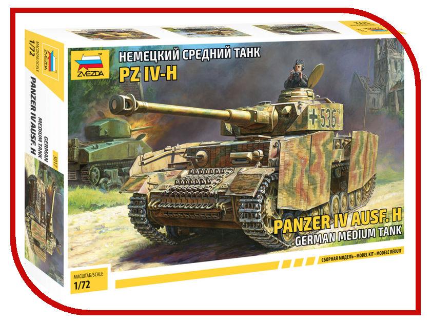 Сборная модель Zvezda Немецкий средний танк T-IV H 5017 звезда сборная модель немецкий средний танк pz iv ausf d