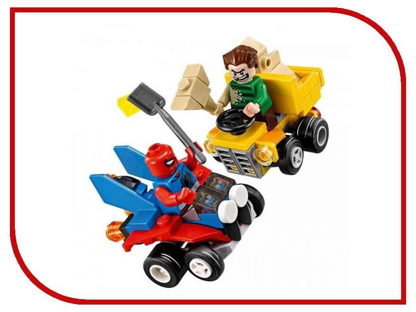 Конструктор Lego Super Heroes Mighty Micros Человек-паук против Песочного человека 76089 dickie toys игрушечный трек человек паук против ящера подарок трамплин человек паук