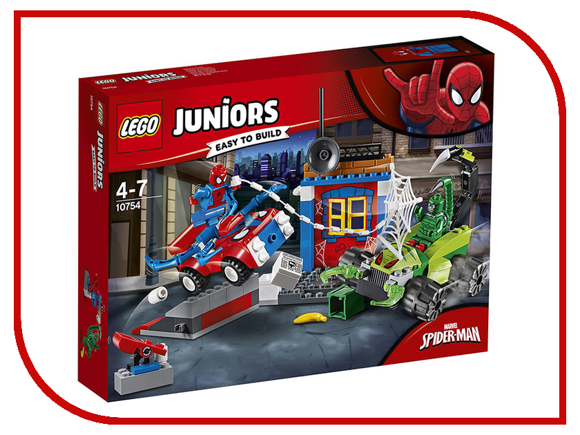 Конструктор Lego Juniors Решающий бой Человека-паука против Скорпиона 10754 конструктор lego elves решающий бой между эмили и ноктурой 41195