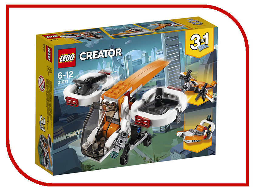 Конструктор Lego Creator Дрон-разведчик 31071 конструктор lego creator 31071 дрон разведчик