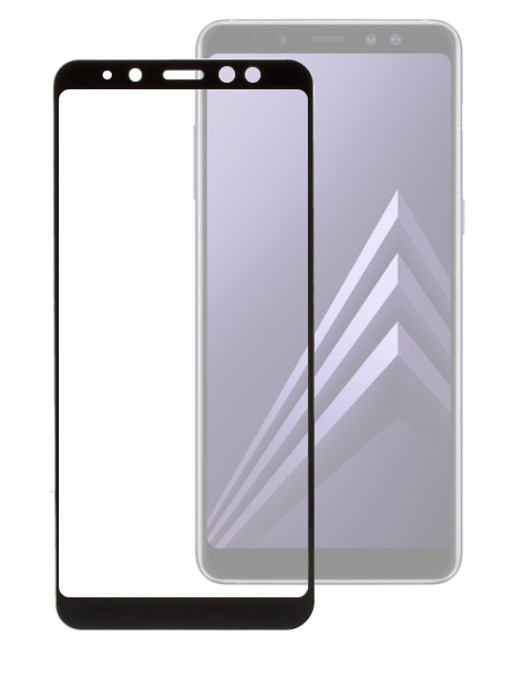 Аксессуар Защитное стекло Red Line для Samsung Galaxy A8 2018 A530 Full Screen Tempered Glass Full Glue Black УТ000014150 цена и фото