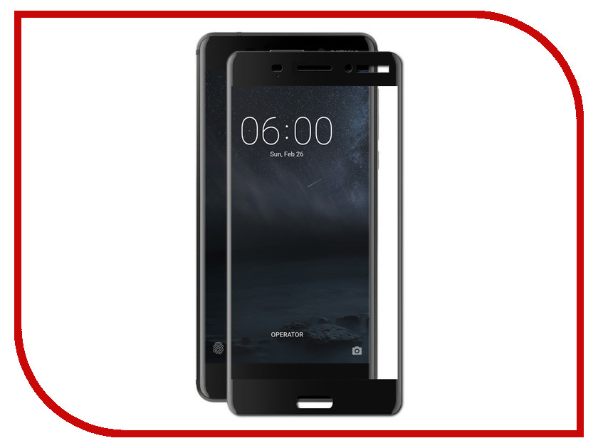 Аксессуар Защитное стекло для Nokia 6 2018 Red Line Full Screen Tempered Glass Black УТ000014520 protective glass red line for nokia 6 2018 full screen black