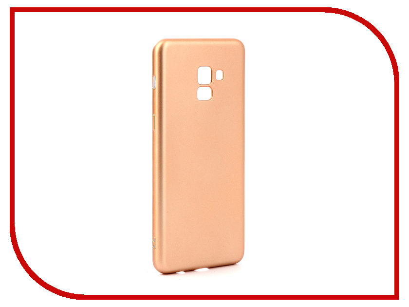 Аксессуар Чехол для Samsung Galaxy A8 Plus 2018 Gurdini Soft Touch Silicone Champagne 905725 mooncase soft silicone gel side flip pouch hard shell back чехол для samsung galaxy s6 black