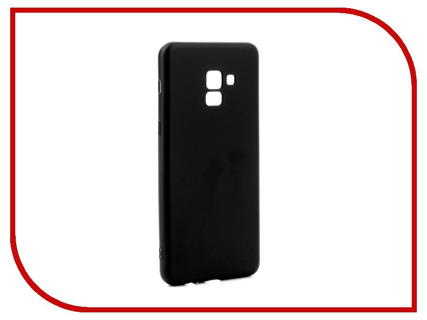 Аксессуар Чехол для Samsung Galaxy A8 Plus 2018 Gurdini Soft Touch Silicone Black 905724 цена и фото