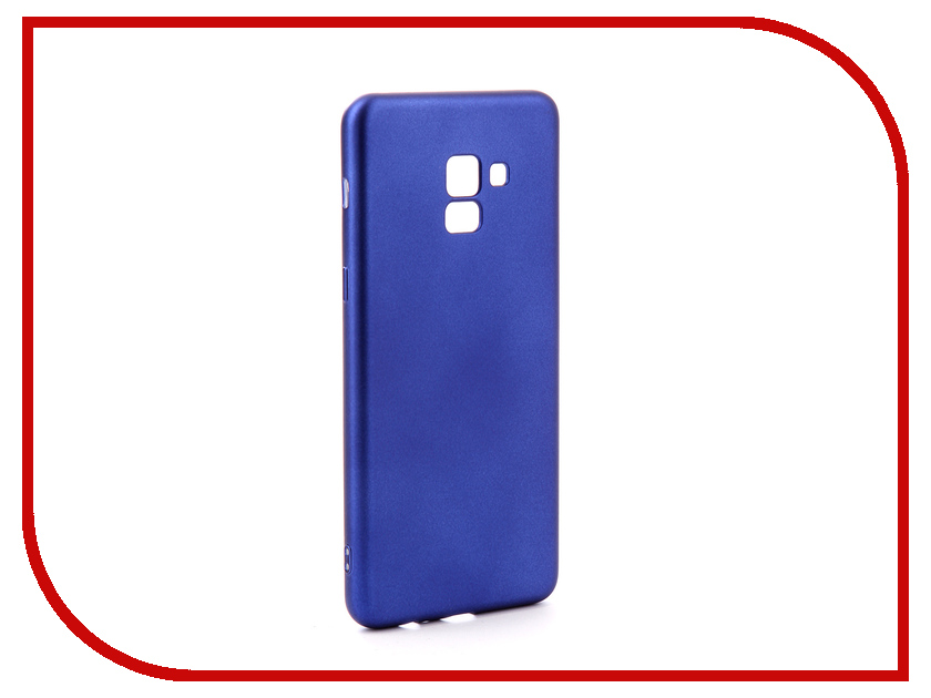 Аксессуар Чехол для Samsung Galaxy A8 Plus 2018 Gurdini Soft Touch Silicone Blue 905723 mooncase soft silicone gel side flip pouch hard shell back чехол для samsung galaxy s6 black