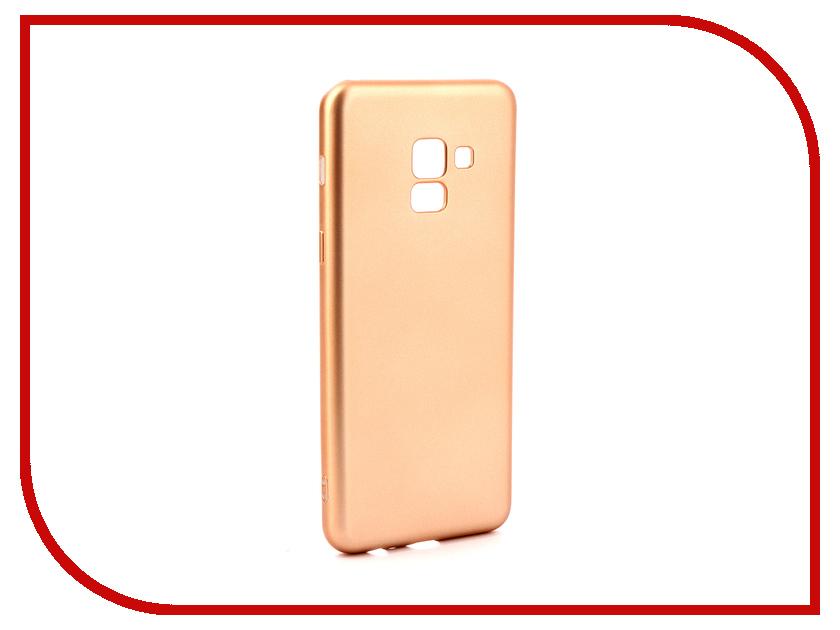 Аксессуар Чехол Samsung Galaxy A8 2018 Gurdini Soft Touch Silicone Champagne аксессуар чехол samsung galaxy a7 2017 with love moscow silicone russia 5090