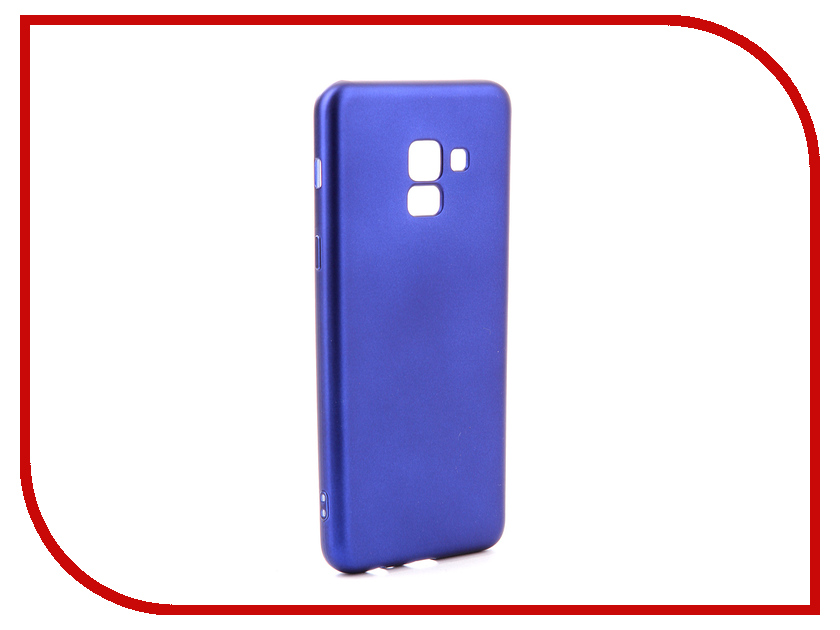 Аксессуар Чехол для Samsung Galaxy A8 2018 Gurdini Soft Touch Silicone Blue 905721 mooncase soft silicone gel side flip pouch hard shell back чехол для samsung galaxy s6 black