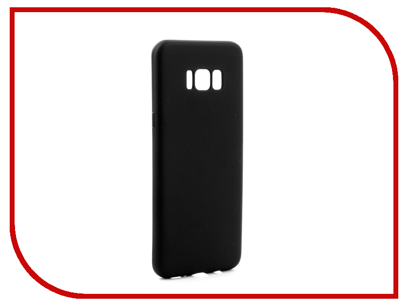 Аксессуар Чехол Samsung Galaxy S8 Plus Gurdini Soft Touch Silicone Black аксессуар чехол samsung galaxy a7 2017 with love moscow silicone russia 5090