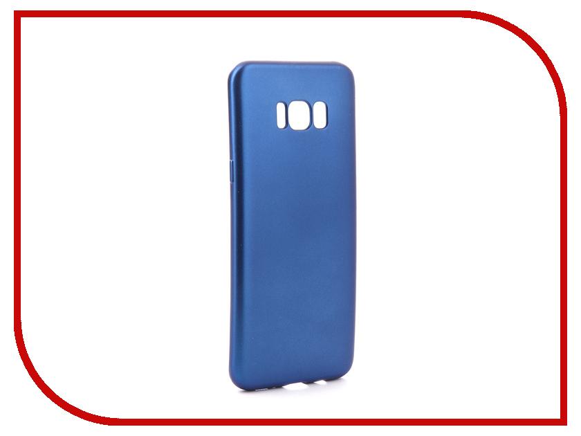 Аксессуар Чехол Samsung Galaxy S8 Plus Gurdini Soft Touch Silicone Blue аксессуар чехол samsung galaxy a7 2017 with love moscow silicone russia 5090