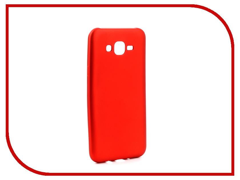 Аксессуар Чехол Samsung Galaxy J7 Neo J701 Gurdini Soft Touch Silicone Red аксессуар чехол samsung galaxy a7 2017 with love moscow silicone russia 5090