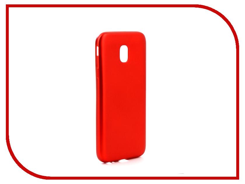 Аксессуар Чехол для Samsung Galaxy J3 2017 J330 Gurdini Soft Touch Silicone Red аксессуар чехол samsung j3 2017 j330f zibelino clear view black zcv sam j330 blk