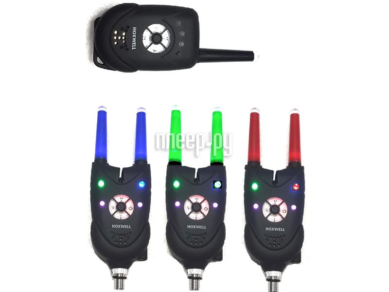 Сигнализатор поклевки Hoxwell HL 83 - Набор с пейджером 3+1 сигнализатор поклевки hoxwell hl50