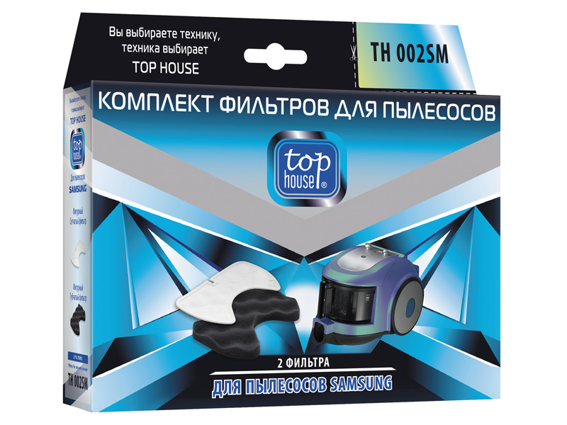 Комплект фильтров Top House TH 002SM для пылесосов SAMSUNG 2 шт 4660003392821