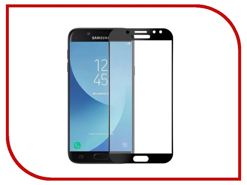 Аксессуар Стекло противоударное Samsung Galaxy J7 J730 Gurdini 2D Full Screen Black фонарь maglite 2d синий 25 см в картонной коробке 947191